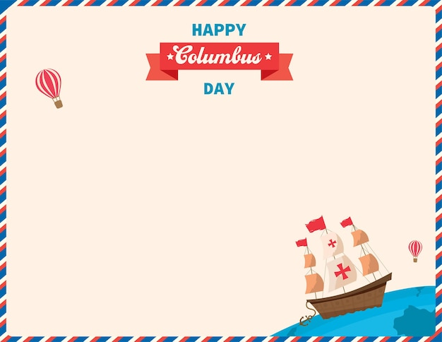 Illustratie vector van happy columbus day achtergrond sjabloon.