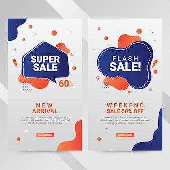 Illustratie vectorafbeelding van sociale media banners voor online winkelen, website en mobiele website banners, posters, e-mail en nieuwsbrief ontwerpen, advertenties, promotiemateriaal.