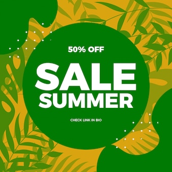 Illustratie verkoop zomer
