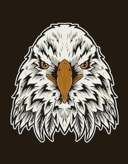 Illustratie vintage adelaar vogelkop