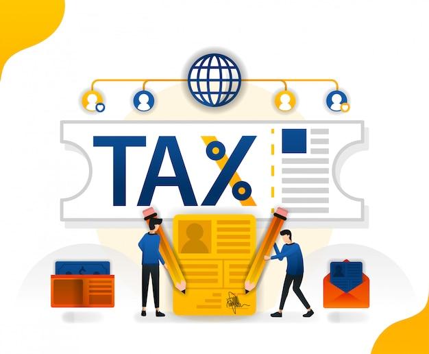 Illustratie voor belastingamnestiekaarten voor belastingverslaggevers