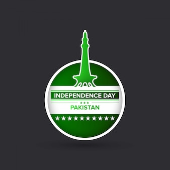 Illustratie voor de viering van de onafhankelijkheidsdag van pakistan.