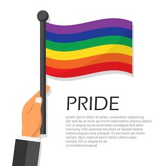 Illustratie voor de viering van de viering van de trotsmaand.