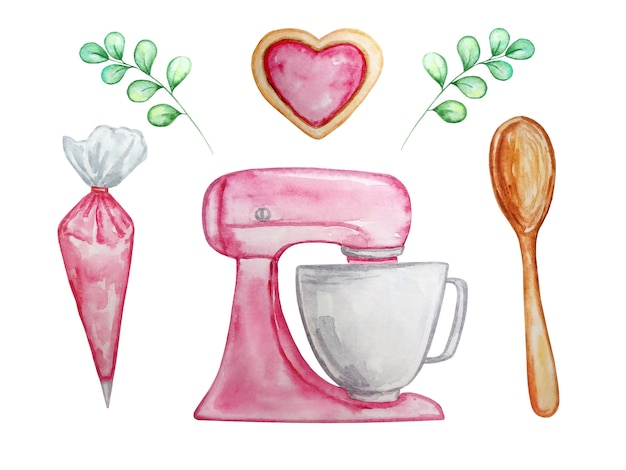 Illustratie voor keuken en koken instellen