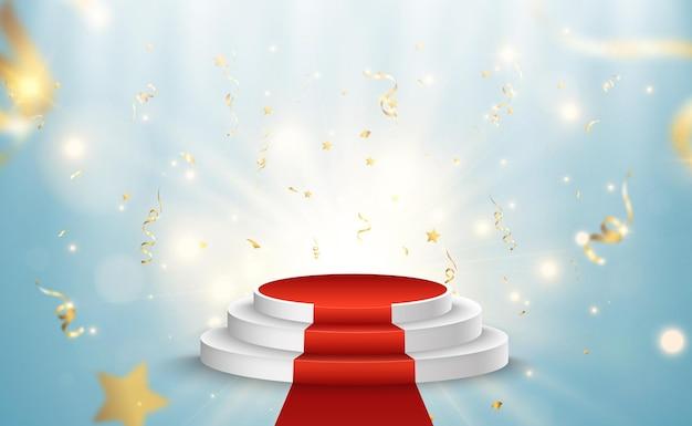 Illustratie voor prijswinnaars voetstuk of platform voor het eren van prijswinnaars