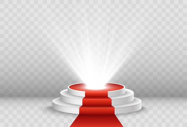 Illustratie voor prijswinnaars. voetstuk of platform voor het eren van prijswinnaars.