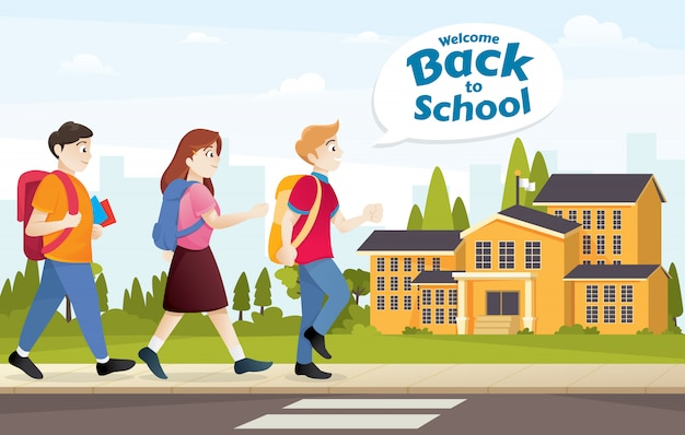 Illustratie voor terug naar school