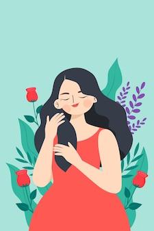 Illustratie voor vrouwendag