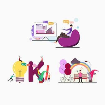Illustratie voor websites en bestemmingspagina