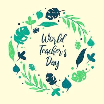 Illustratie voor wereld lerarendag