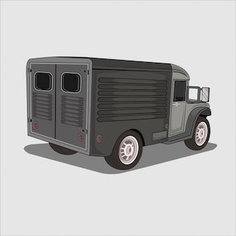 Illustratie vrachtwagen leger