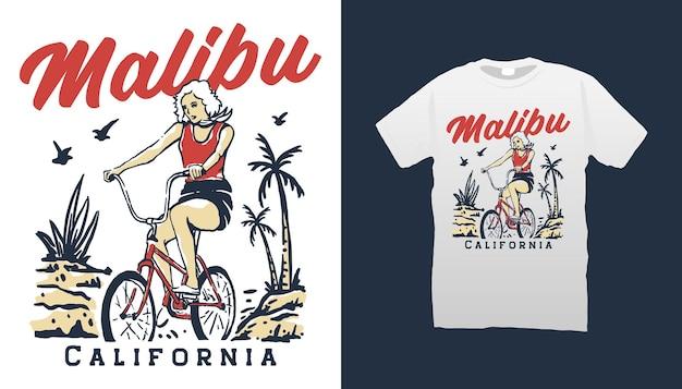 Illustratie vrouw fietsen