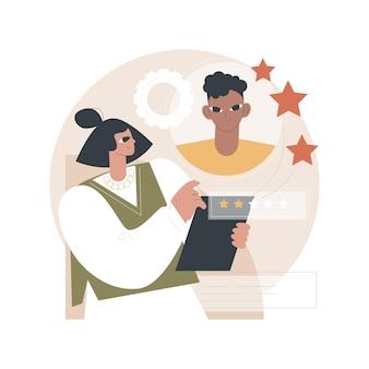 Illustratie werknemer beoordeling