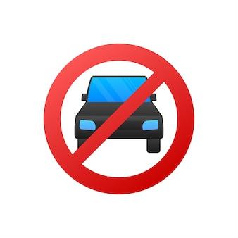 Illustratie zonder auto op witte achtergrond. vector illustratie.