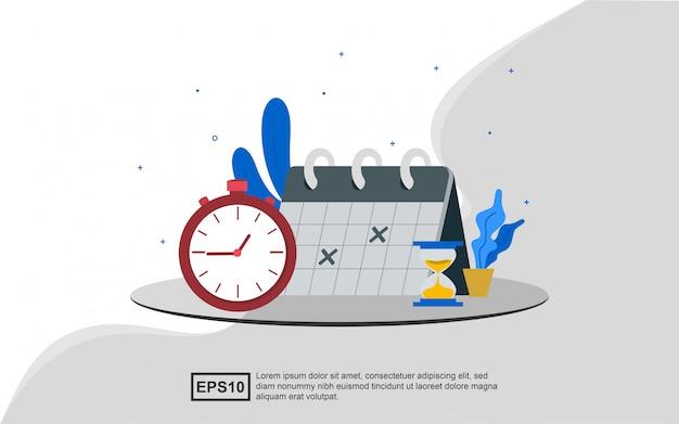 Illustratieconcept tijdbeheer