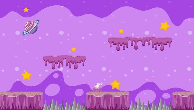 Illustratieontwerp met melkwegthema voor videospelletjes