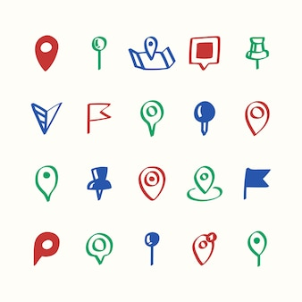Illustratiereeks pictogrammen van de kaartspeld
