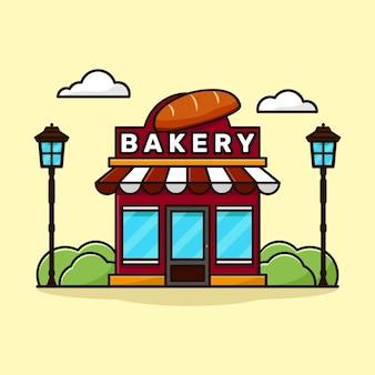 Illustraties bakkerijwinkel