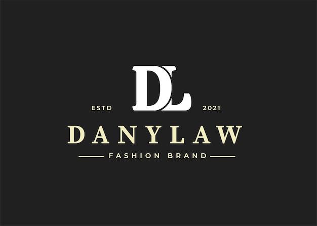 Illustraties van eerste dl-logo-ontwerpsjabloon
