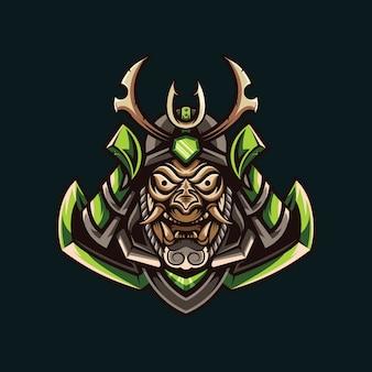 Illustraties van groene samurai