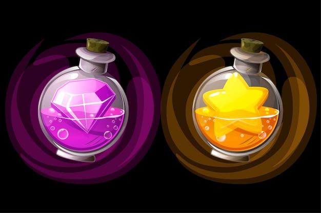 Illustraties van potten met drankjes