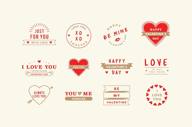 Illustraties van valentine