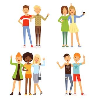 Illustraties van vriendschap