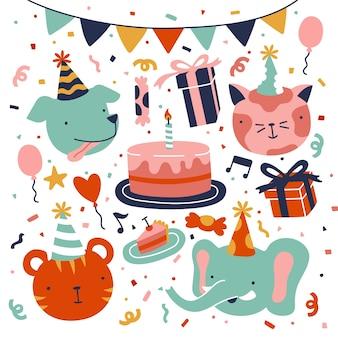 Illustraties voor gelukkige verjaardagsvieringen