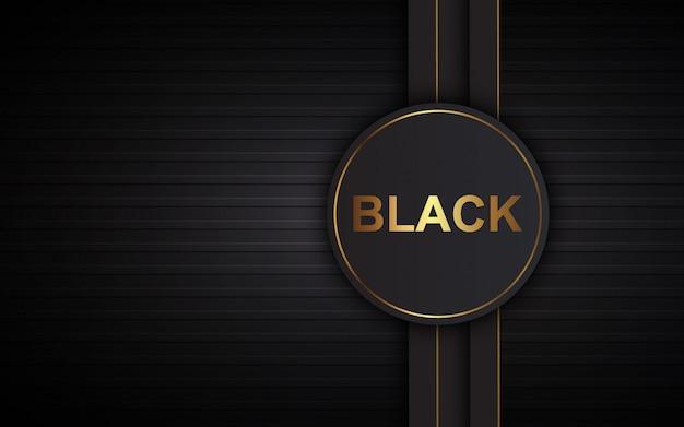 Illustratievector grafisch van abstracte moderne lagen als achtergrond luxe zwarte overlapping