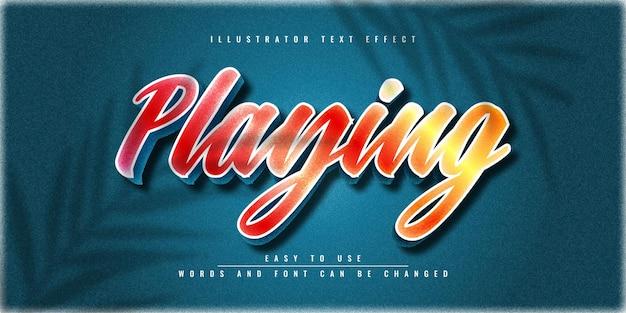 Illustrator bewerkbaar 3d-teksteffect sjabloonontwerp spelen