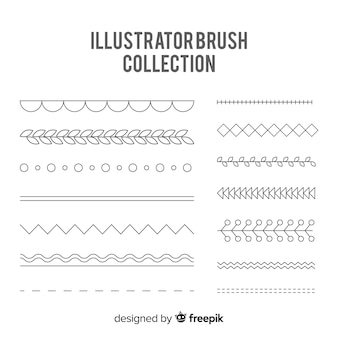 Illustrator borstelcollectie