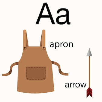 Illustrator van a vocabulary