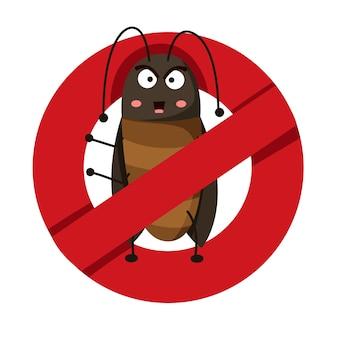 Illustrator van anti-kakkerlak