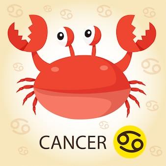 Illustrator van dierenriem met kanker