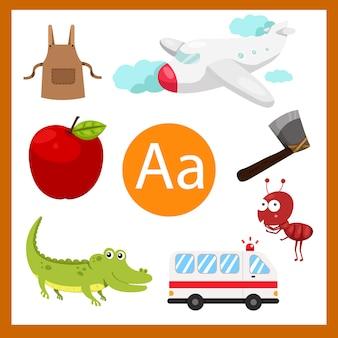 Illustrator van een alfabet voor kinderen