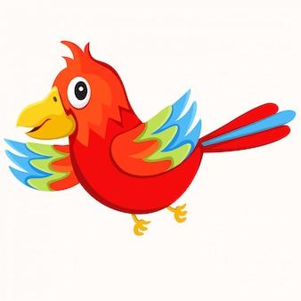 Illustrator van geïsoleerde papegaai