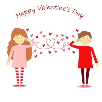 Illustrator van hallo valentijnsdag