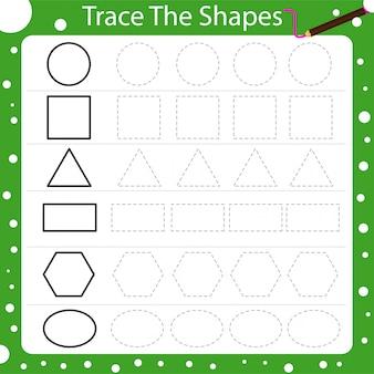 Illustrator van het traceren van de vormen