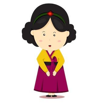 Illustrator van nationale reeks zuid-korea