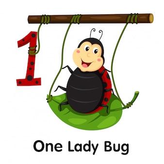 Illustrator van nummer één lady bug