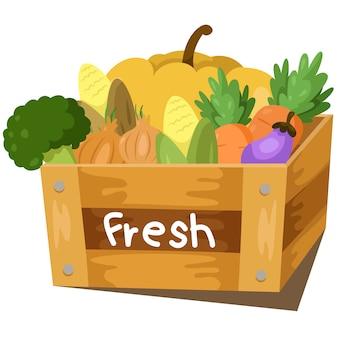 Illustrator van verse groente