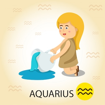 Illustrator van zodiac met waterman