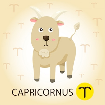 Illustrator van zodiac with capricorns