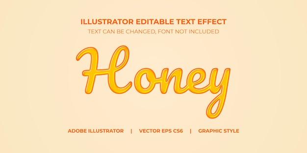 Illustrator vector teksteffect grafische stijl hone