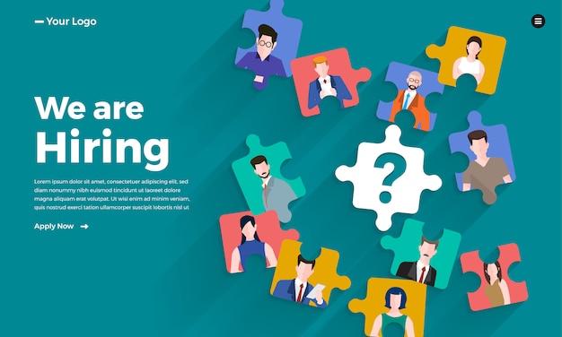 Illustreer concept de vindende werknemer. hr zoeken naar een baan. illustreren.