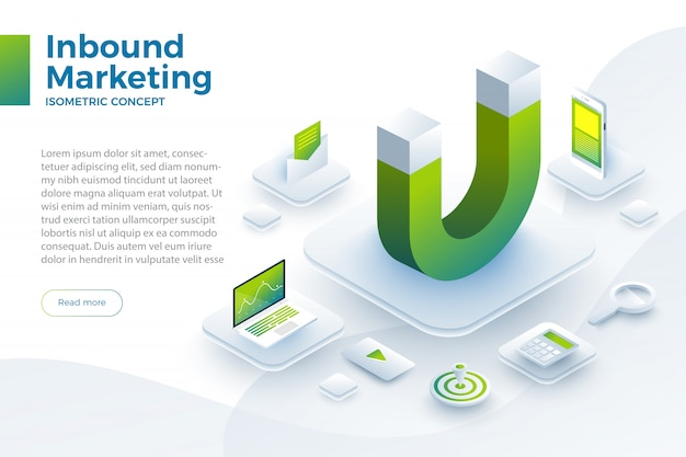 Illustreren inbound marketing