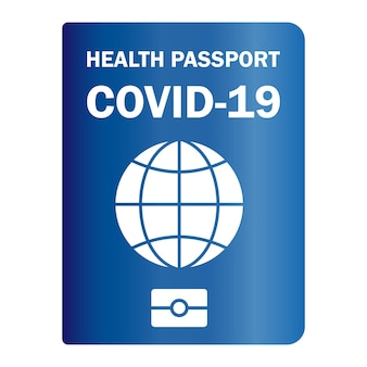 Immuniteit paspoort. gevaccineerd gezondheidspaspoort. papieren document om aan te tonen dat een persoon is ingeënt met het covid-19-vaccin. immuniteit papieren document van coronavirus. vector