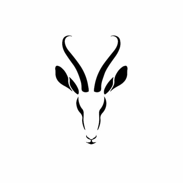 Impala symbool logo tattoo design stencil vectorillustratie