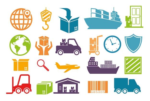 Importeer gratis verzending pictogrammen
