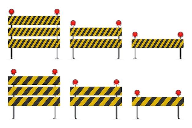 In aanbouw barrière voor weg